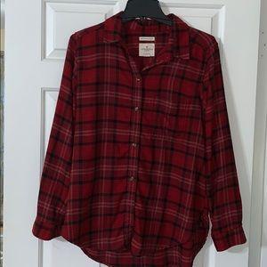 American Eagle boyfriend flannel shirt